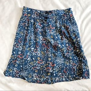 Urban Outfitters Kimchi Blue Lace Up Floral Skirt